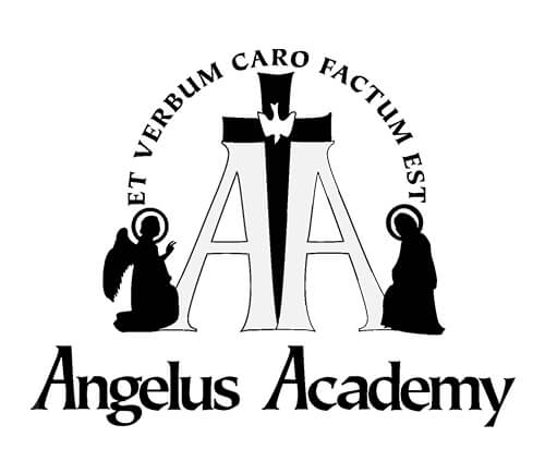 Angelus Academy logo black and white
