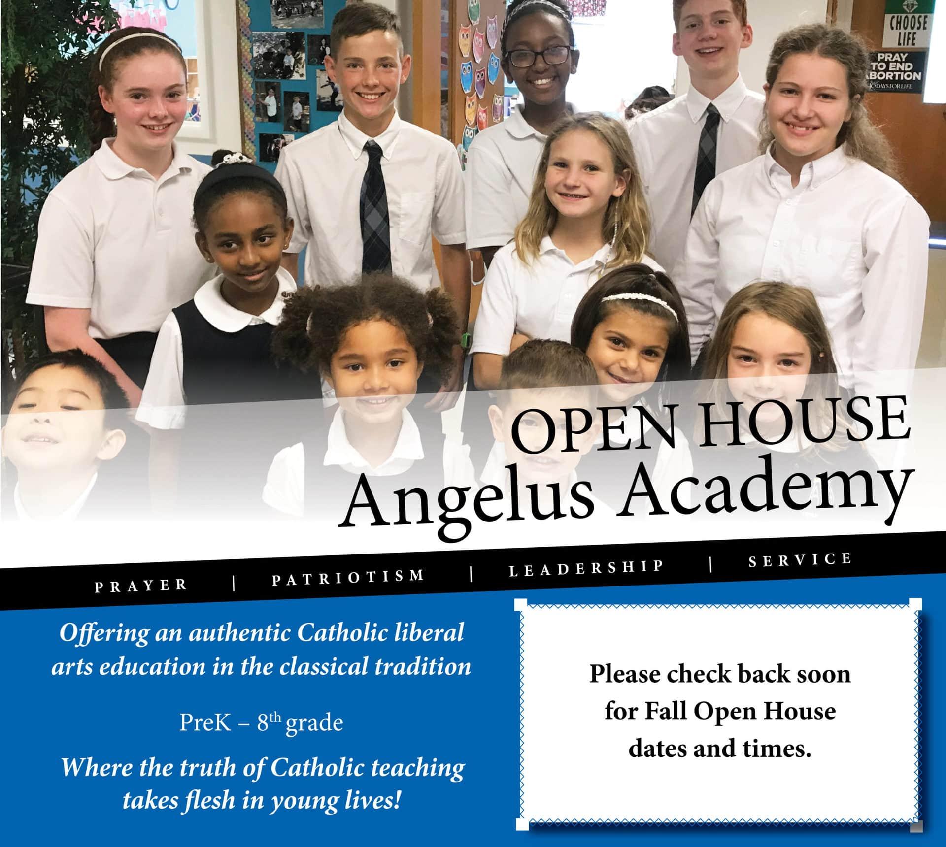 Angelus Academy Open House